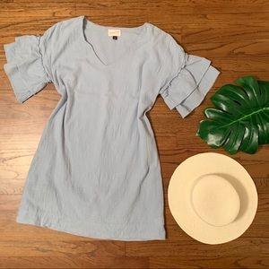 Blue cotton summer dress